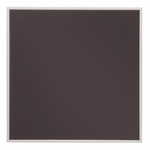 Quartet Bulletin Board -Woven Gray Fabric -48'' x 31'' -Mounts Vert./Horiz. [QRTB4831-FS-SP]