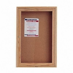 Quartet Cork Boards - 1 Door - 2' x 3' - Oak Frame [QRT363-FS-SP]