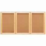 Quartet Cork Boards - 3 Door - 6' x 4' - Oak Frame [QRT367-FS-SP]
