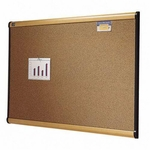 Quartet Cork Bulletin Board - 3' x 2' - Maple [QRTB243MA-FS-SP]