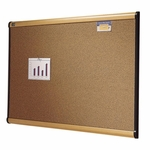 Quartet Cork Bulletin Board - 4' x 3' - Maple [QRTB244MA-FS-SP]