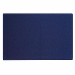 Quartet Fabric Bulletin Board -Frameless -Hardware Incld. -4' x 3' -Indigo [QRT7684IB-FS-SP]
