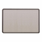 Quartet Fabric Covered Tack Board - 48'' x 36'' - Gray/Graphite [QRT7694G-FS-SP]