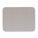 Quartet Oval Fabric Bulletin Board - 4' x 3' - Gray [QRT7684G-FS-SP]