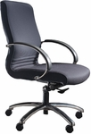 Quick Ship 1200 Series Executive Swivel Chair with Polished Chrome Arms [1231-FS-HPF]
