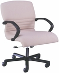 Quick Ship 1200 Series Management Swivel Chair with Black Urethane Arms [1227-FS-HPF]