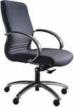 Quick Ship 1200 Series Management Swivel Chair with Polished Chrome Arms [1237-FS-HPF]