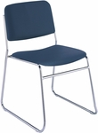 Quick Ship 300 Series Stacking Steel Frame Armless Guest Chair with Chrome Sled Base and 1.5'' Upholstered Seat [310-CH-QS-IFK]