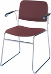 Quick Ship 300 Series Stacking Steel Frame Guest Armchair with Chrome Sled Base and 1.5'' Upholstered Seat [311-CH-QS-IFK]