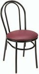 Quick Ship 3200 Series Armless Hospitality Chair with Rounded Steel Frame and Upholstered Seat - Sandtex Black [3210-SB-QS-IFK]