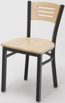 Quick Ship 3315B Natural Wood Seat and Back Cafe Chair [3315B-QS-NAT-IFK]