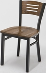 Quick Ship 3315B Walnut Wood Seat and Back Cafe Chair [3315B-QS-WL-IFK]