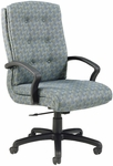 Quick Ship 3900 Series Executive Swivel Chair with Black Urethane Arms [3921-FS-HPF]