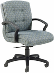 Quick Ship 3900 Series Management Swivel Chair with Black Urethane Arms [3927-FS-HPF]