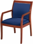Quick Ship 4900 Series Wood Frame Guest Armchair with Upholstered Back and 3'' Web Seat - Medium Cherry [FB4921-QS-IFK]