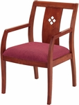 Quick Ship 4900 3'' Upholstered Web Seat with Laser Cut Diamond Back Guest Chair [DB4921-QS-IFK]