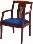 Quick Ship 4900 Wood Frame Guest Armchair with Laser Cut Line Back and 3'' Upholstered Web Seat [SB4921-QS-IFK]