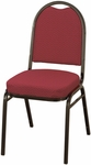 Quick Ship 500 Series Stacking Armless Hospitality Chair with Rounded Back and 2'' Upholstered Seat [520-QS-IFK]