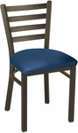 Quick Ship 3300 Series Square Steel Frame Armless Hospitality Chair with Ladder Back and Vinyl Seat - Sandtex Black [IM3316-SB-QS-IFK]