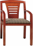 Quick Ship Contempo Ladder Back Arm Chair [9423-FS-HPF]