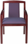 Quick Ship Contempo Partial Upholstered Back Arm Chair [9513-FS-HPF]