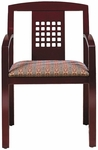 Quick Ship Contempo Puzzle Back Arm Chair [9433-FS-HPF]