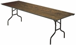 E Series Quick Ship Rectangular Plywood Core Folding Table - 30''W x 72''L x 30''H [630E-MFT]