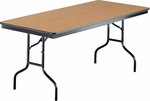 EF Series Quick Ship Rectangular Plywood Core Folding Table - 30''W x 72''L x 30''H [630EF-MFT]