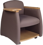 Quick Ship Genesis Team Chair with Wood Finishes [1737-FS-HPF]
