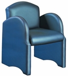 Quick Ship High Street Lounge Chair with Radius Back and Radius Arms [850-FS-HPF]