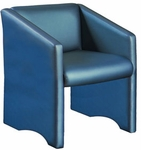 Quick Ship High Street Lounge Chair with Straight Back and Slanted Arms [860-FS-HPF]