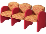 Quick Ship High Street Three Seater Lounge Chairs [850-33-FS-HPF]