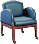 Quick Ship HiLeg Conference Chair with Radius Arms [8504-FS-HPF]