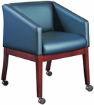 Quick Ship HiLeg Conference Chair with Slant Arms [8604-FS-HPF]