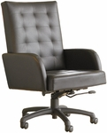 Quick Ship Leader Executive Square-Pattern Stitched Chair with Spider Base [141-FS-HPF]