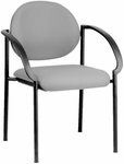 Quick Ship NexStep 4-Legged Metal Stacking Arm Chair [733-HPF]