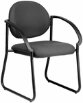 Quick Ship NexStep Sled Base Metal Arm Chair [734-FS-HPF]