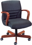 Quick Ship Quick Silver Management Swivel Chair with Horizontal Back Stitching [1837-FS-HPF]