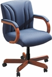 Quick Ship Quick Silver Management Swivel Chair with Vertical Back Stitching [3277-FS-HPF]