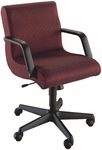 Quick Ship Scoop Management Swivel Chair with Black Urethane Arms [1077-FS-HPF]