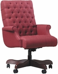Quick Ship Scoop Management Swivel Chair with Fully Upholstered Arms [4147-FS-HPF]