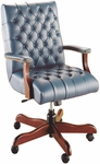 Quick Ship Scoop Traditional Executive Swivel Chair with Platform Arms [4161-FS-HPF]