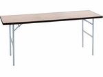 Quick Ship Standard Series Rectangular Banquet Table with Aluminum Edge and Plywood Top - 72''D x 18''W x 30''H [MP1872-CAE-MFC]