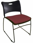 Quick Ship Stax Stacking Chair with Upholstered Seat [723SC-HPF]