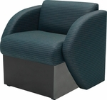 Quick Ship Steps Lounge Chair with Black Base [7441BLK-FS-HPF]