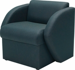 Quick Ship Steps Lounge Chair with Upholstered Base [7441-FS-HPF]