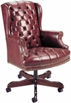 Quick Ship Traditional Series Tufted Executive Swivel Chair [4078-FS-HPF]