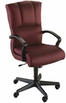 Quick Ship Trifecta Executive Swivel Chair with Black Urethane Arms [1661-FS-HPF]
