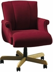 Quick Ship Trifecta Management Swivel Chair with Fully Upholstered Arms [1647-FS-HPF]