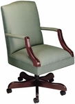 Quick Ship Value Traditional Martha Washington Management Swivel Chair [3477-FS-HPF]